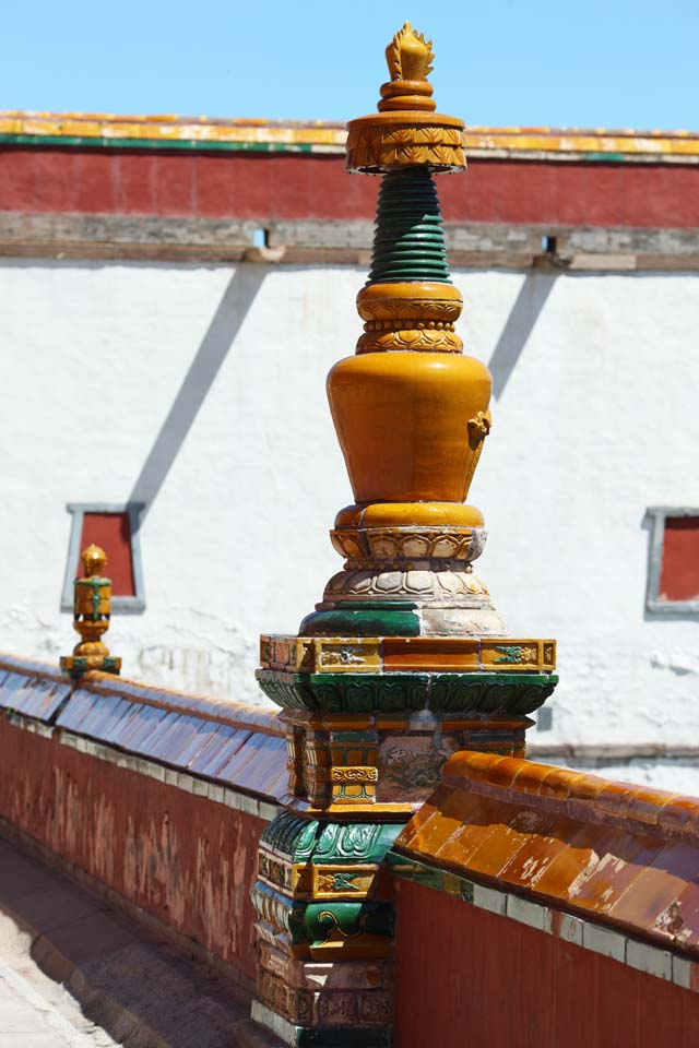 Foto, materiell, befreit, Landschaft, Bild, hat Foto auf Lager,PutuoZongchengTemple, Tibet, Chaitya, Ich bin herrlich, Dekoration