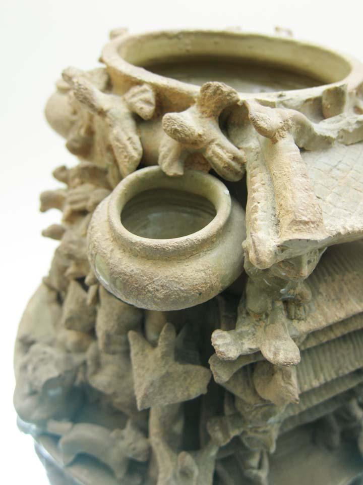 写真,素材,無料,フリー,フォト,クリエイティブ・コモンズ,風景,壁紙,堆塑罐, 骨董品, 飾り物, 古代中国, 中国文化