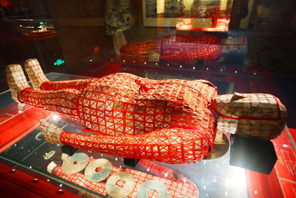 الصورة,المادة,حرر,منظر للطبيعة,جميل,صور,غربي متحف هان jadeburialsuit ضريح الملك Nanyue, القبر., قبر تل الدفن., , الدفن.