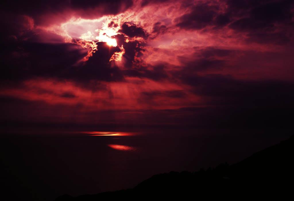 Foto, materieel, vrij, landschap, schilderstuk, bevoorraden foto,Richten van rode zee in, Kat Doen schudden, Prachtig, Wolk, Lucht