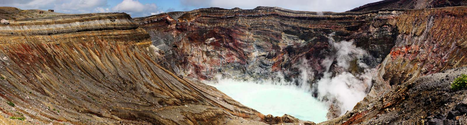 photo,material,free,landscape,picture,stock photo,Creative Commons,Mt. Aso Mt. Naka-dake, crater lake, volcano, An active volcano, Mt. Aso