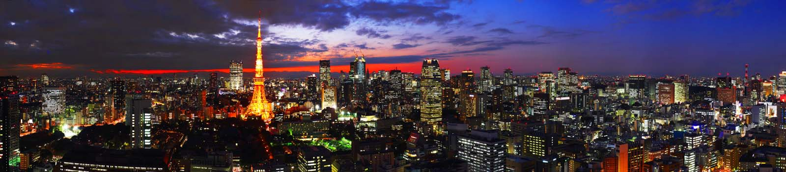 photo,material,free,landscape,picture,stock photo,Creative Commons,Tokyo night view, building, The downtown area, Tokyo Tower, sunset