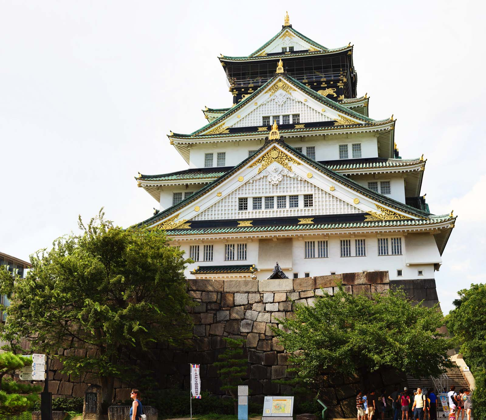 photo,material,free,landscape,picture,stock photo,Creative Commons,The Osaka-jo Castle castle tower, camp of the Osaka summer, castle of the father of the Imperial adviser, Ieyasu Tokugawa, revival castle tower