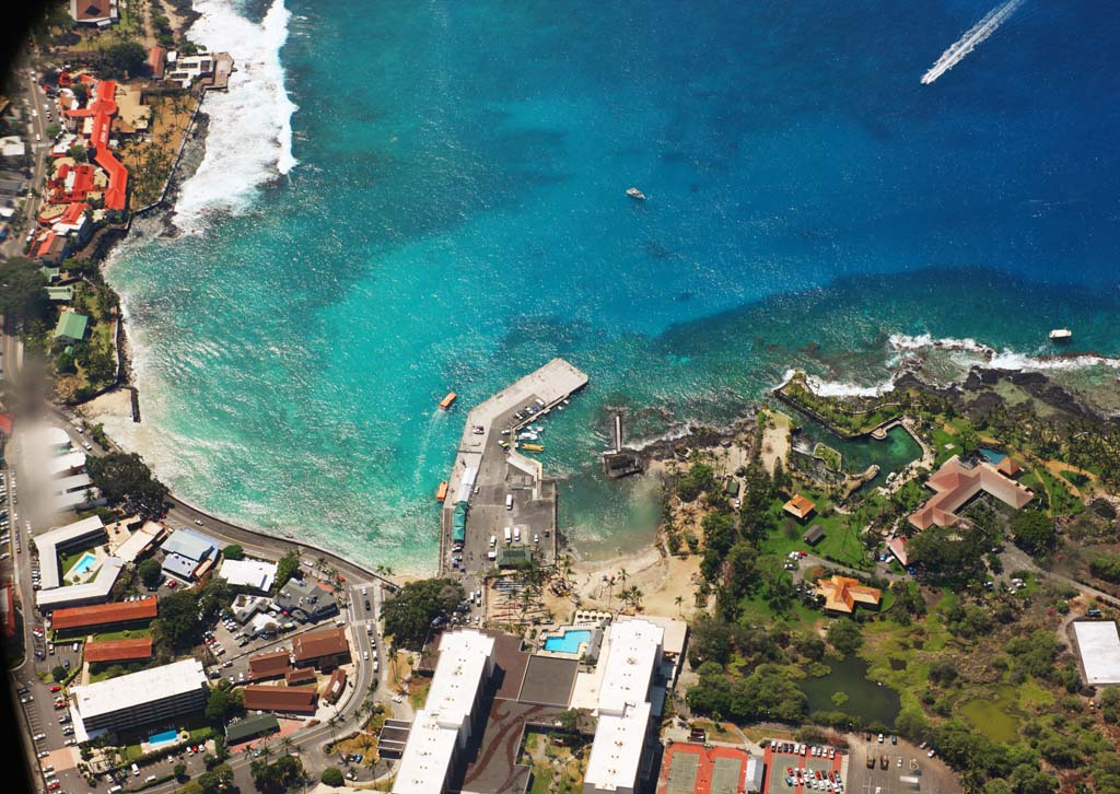 photo,material,free,landscape,picture,stock photo,Creative Commons,Hawaii Island chi lure kona, town, resort, beach, Blue