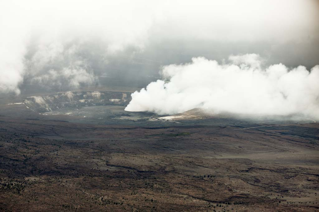 photo,material,free,landscape,picture,stock photo,Creative Commons,Mt. Kilauea, Lava, The crater, Halema'uma'u, Smoke