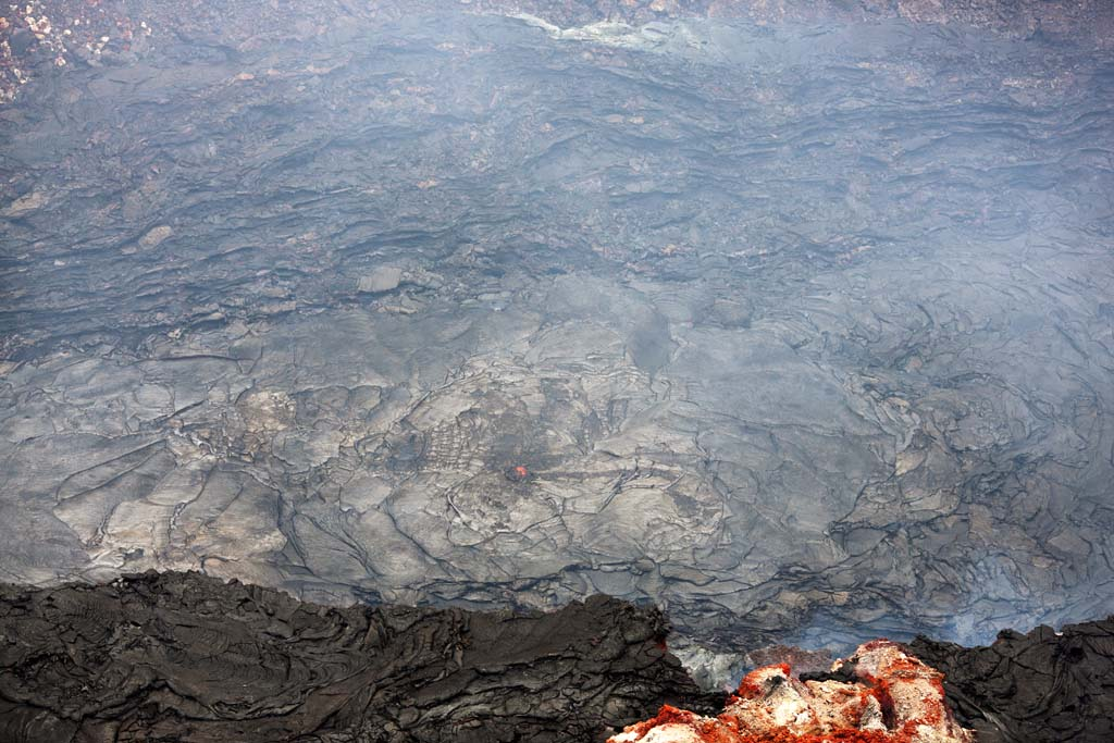 photo,material,free,landscape,picture,stock photo,Creative Commons,Mt. Kilauea, Lava, The crater, Puu Oo, Smoke