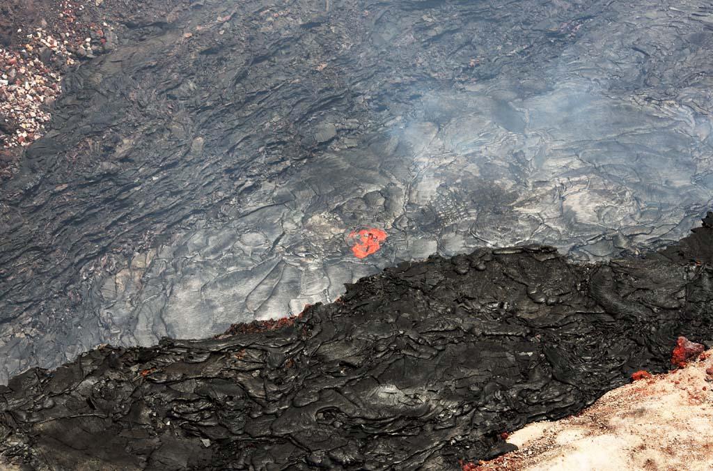 fotografia, material, livra, ajardine, imagine, proveja fotografia,Mt. Kilauea, Lava, A cratera, Puu Oo, Fumaça