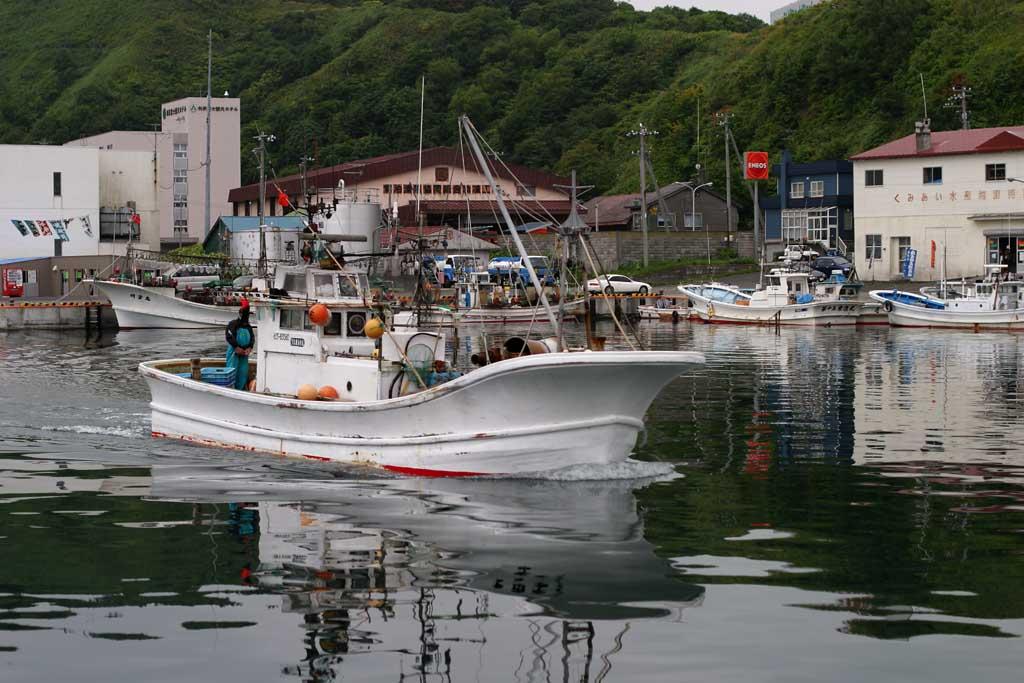 fotografia, materiale, libero il panorama, dipinga, fotografia di scorta,Pescando barca ritorn�, vaso, barca che pesca, mare, Oshidomari che pesca porto