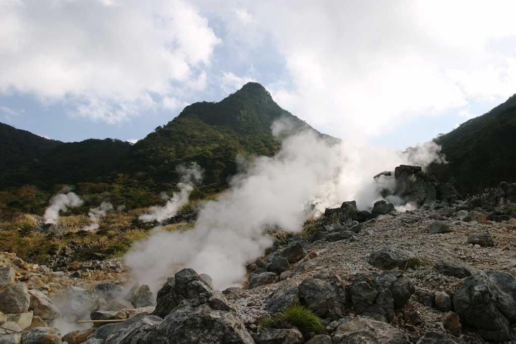 fotografia, materiale, libero il panorama, dipinga, fotografia di scorta,Ohwakudani, Hakone, vulcano, calore terrestre, montagna