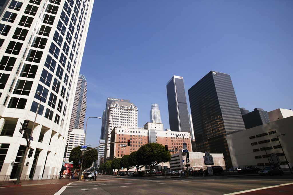 foto,tela,gratis,paisaje,fotograf�a,idea,Barrio bajo de Los �ngeles, Edificio, Manera, Cielo, Los Angeles