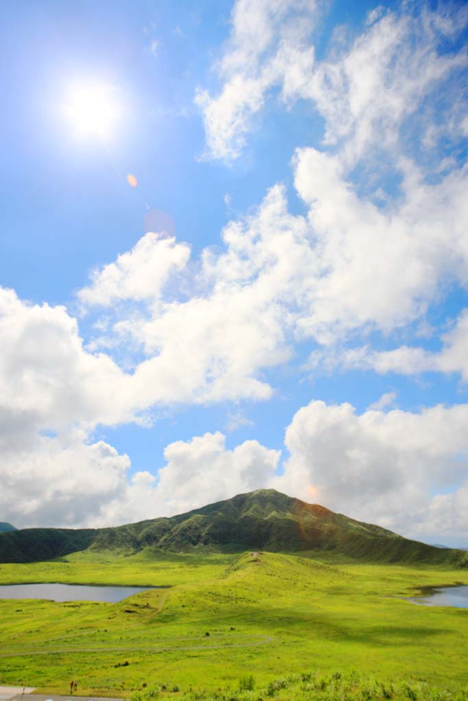 photo,material,free,landscape,picture,stock photo,Creative Commons,Grass Chisato panoramic view, , , ,