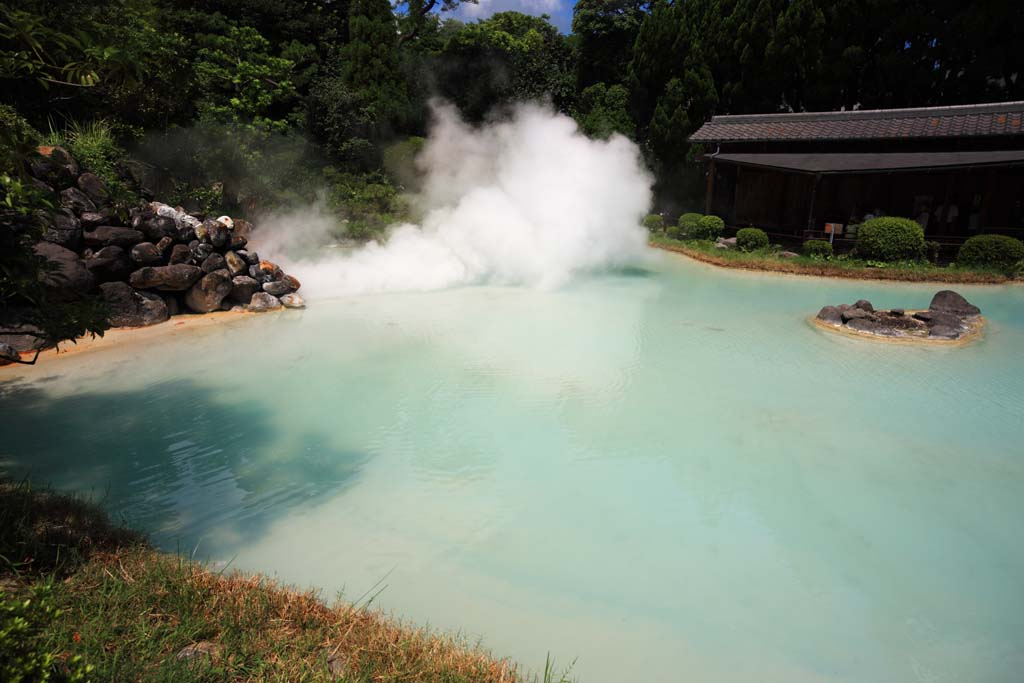 photo,material,free,landscape,picture,stock photo,Creative Commons,White Pond Hell Hot Springs, , , ,