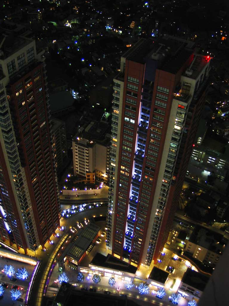 photo, la matière, libre, aménage, décrivez, photo de la réserve,Appartements du gratte-ciel le soir, construire, lumière, appartement, ville