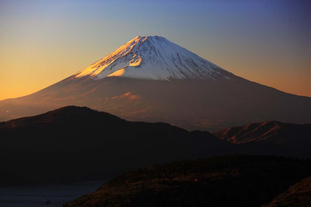 צילום, חינם גשמי, נוף, מדמין, צילום של מלאי ,בשעת בין הערביים הר פוג'י, , , ,