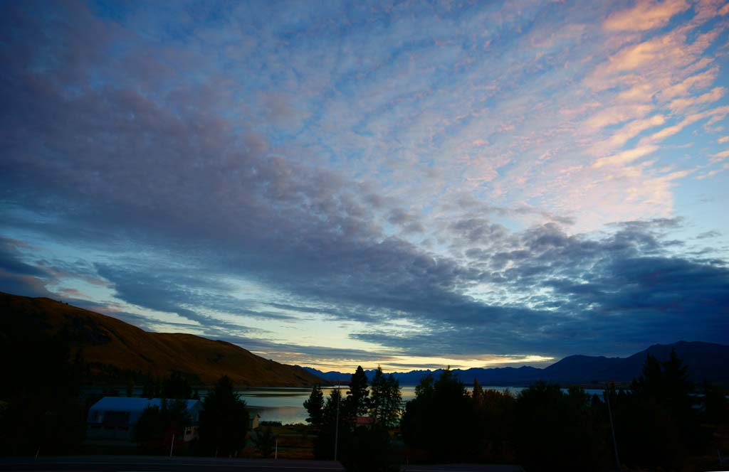 photo,material,free,landscape,picture,stock photo,Creative Commons,Tekapo of dusk, , , ,
