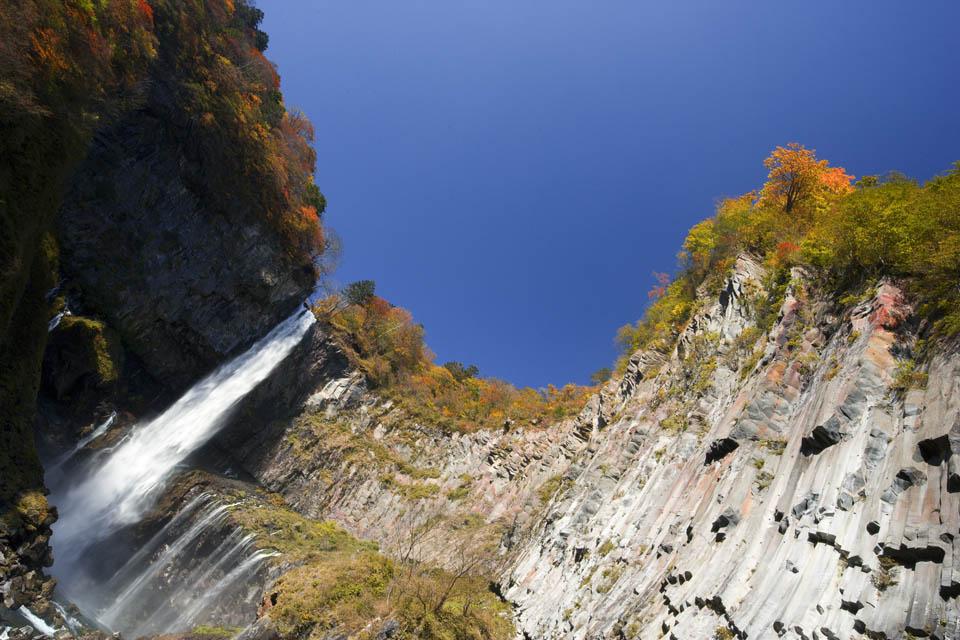 fotografia, materiale, libero il panorama, dipinga, fotografia di scorta,La luce del sole cascate di Kegon, cascata, Acero, cielo blu, Bave culla