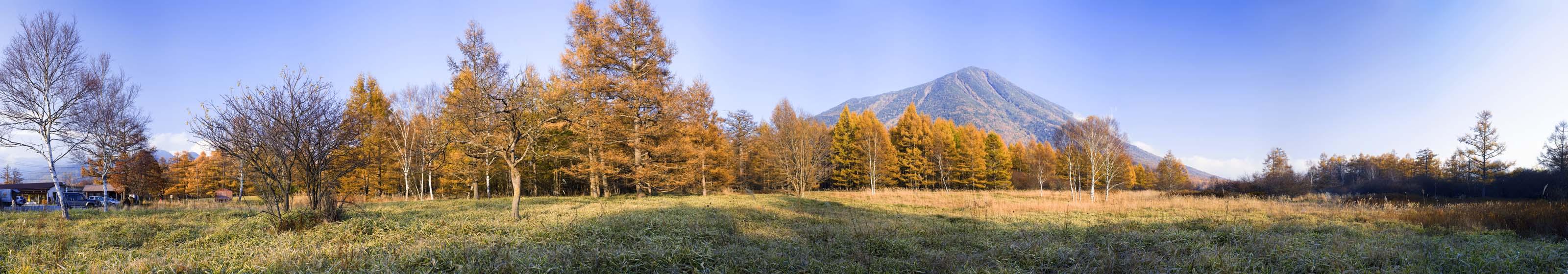 fotografia, materiale, libero il panorama, dipinga, fotografia di scorta,Senjogahara in fine di autunno, Mt. figura maschia, Foglie colorate, Panoramcomposition, Panorama