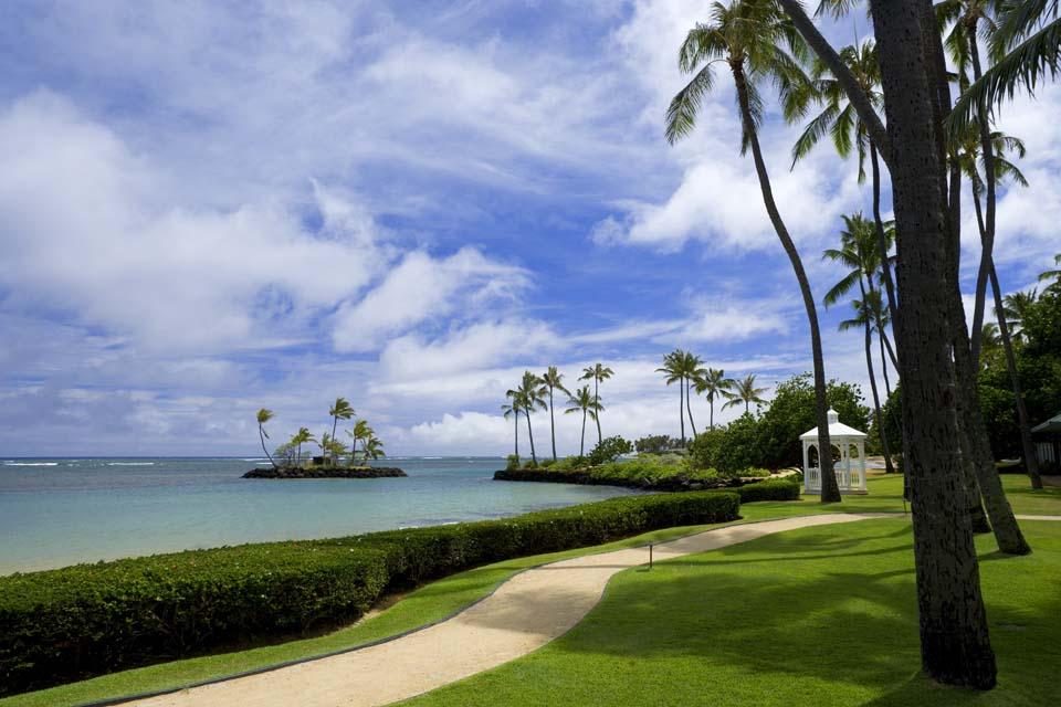 foto,tela,gratis,paisaje,fotograf�a,idea,Un centro vacacional hawaiano, Playa, Playa arenosa, Cielo azul, Lasi
