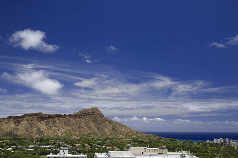 photo,material,free,landscape,picture,stock photo,Creative Commons,Diamond Head, blue sky, rock, Bave rock, The sea