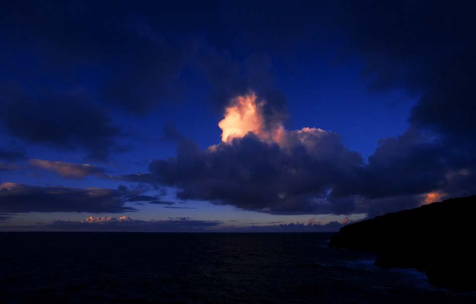 foto,tela,gratis,paisaje,fotograf�a,idea,Un castillo de los cielos, El amanecer, Cielo azul, Nube,