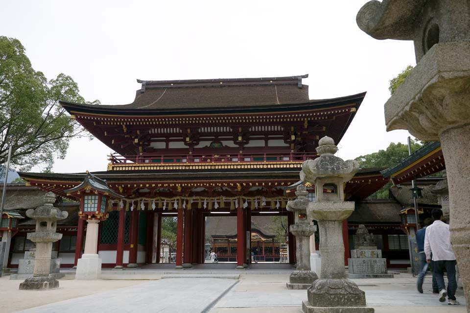Foto, materieel, vrij, landschap, schilderstuk, bevoorraden foto,Temma, Dazaifu heiligdom, Michizane Sugawara, Stenige lantaarn mand, Shinto heiligdom, Decoratie