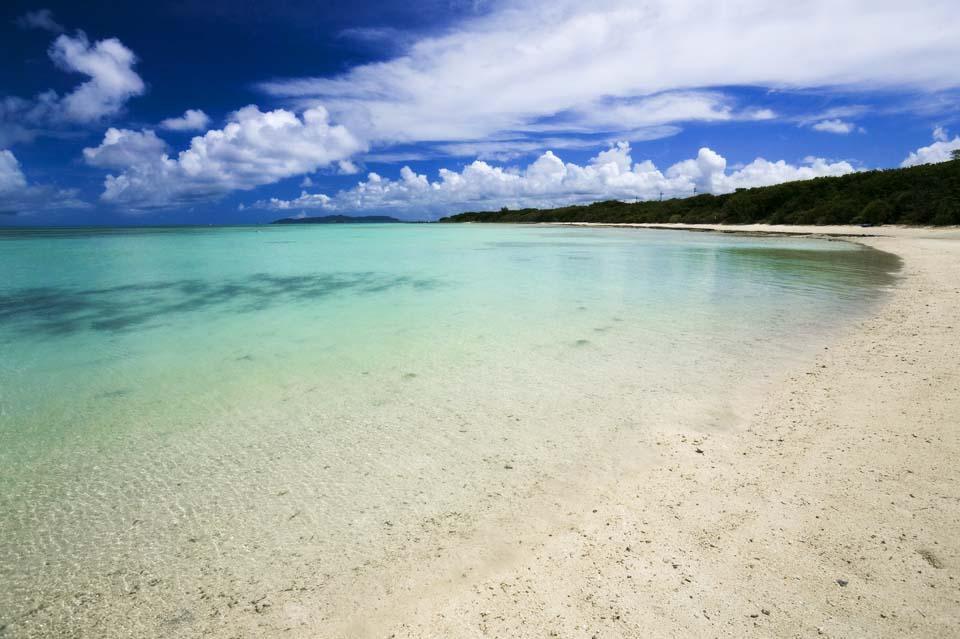 fotografia, materiale, libero il panorama, dipinga, fotografia di scorta,Una spiaggia di paese meridionale, spiaggia sabbiosa, cielo blu, spiaggia, nube
