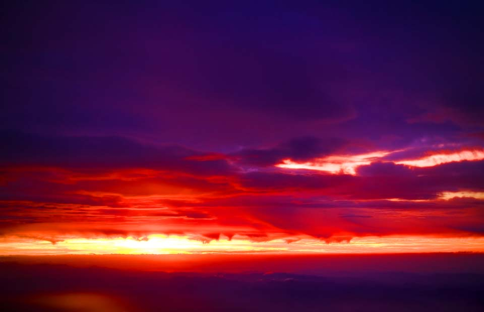 写真,素材,無料,フリー,フォト,クリエイティブ・コモンズ,風景,壁紙,真紅のサンセット, 深紅, 赤, 夕日, 太陽