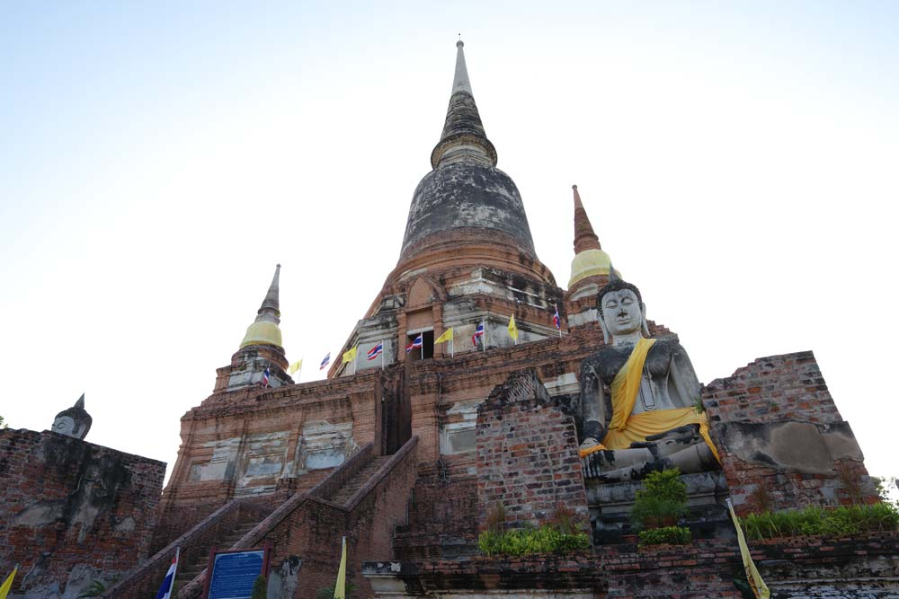 fotografia, materiale, libero il panorama, dipinga, fotografia di scorta,Giorno di Che di Ayutthaya, pagoda, tempio, Immagine buddista, Ayutthaya rimane