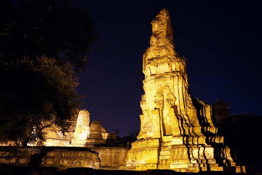 Foto, materieel, vrij, landschap, schilderstuk, bevoorraden foto,Wat Phra Mahathat, Wereldwijd cultureel heritage, Boeddhisme, Gebouw, Ayutthaya verblijft