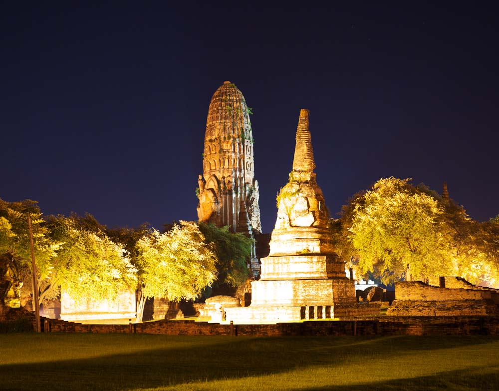 Foto, materieel, vrij, landschap, schilderstuk, bevoorraden foto,Wat Phraram, Wereldwijd cultureel heritage, Boeddhisme, Gebouw, Ayutthaya verblijft