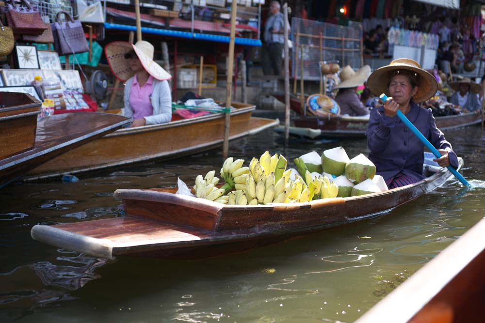 写真,素材,無料,フリー,フォト,クリエイティブ・コモンズ,風景,壁紙,水上マーケットの船, 市場, 売買, ボート, ダムヌン・サドゥアック
