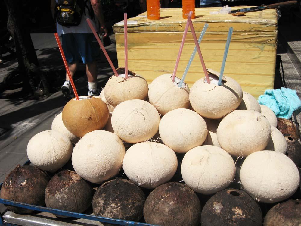 fotografia, materiale, libero il panorama, dipinga, fotografia di scorta,Una bancarella di succo di cocco, cocco, palmo di cocco, cocco, albero di cocco