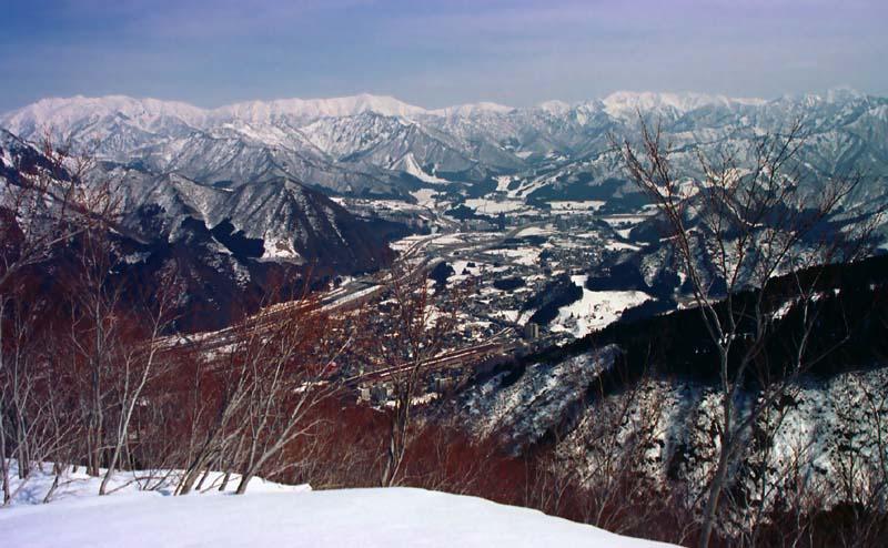 Foto, materiell, befreit, Landschaft, Bild, hat Foto auf Lager,Vogelperspektive von Echigo Yuzawa, Schnee, Berg, Baum,