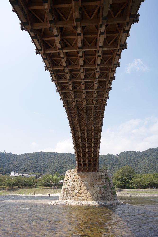 photo, la matière, libre, aménage, décrivez, photo de la réserve,Kintai-kyo lient, Kintai-kyo lient, place notée, visiter des sites pittoresques tache, pont