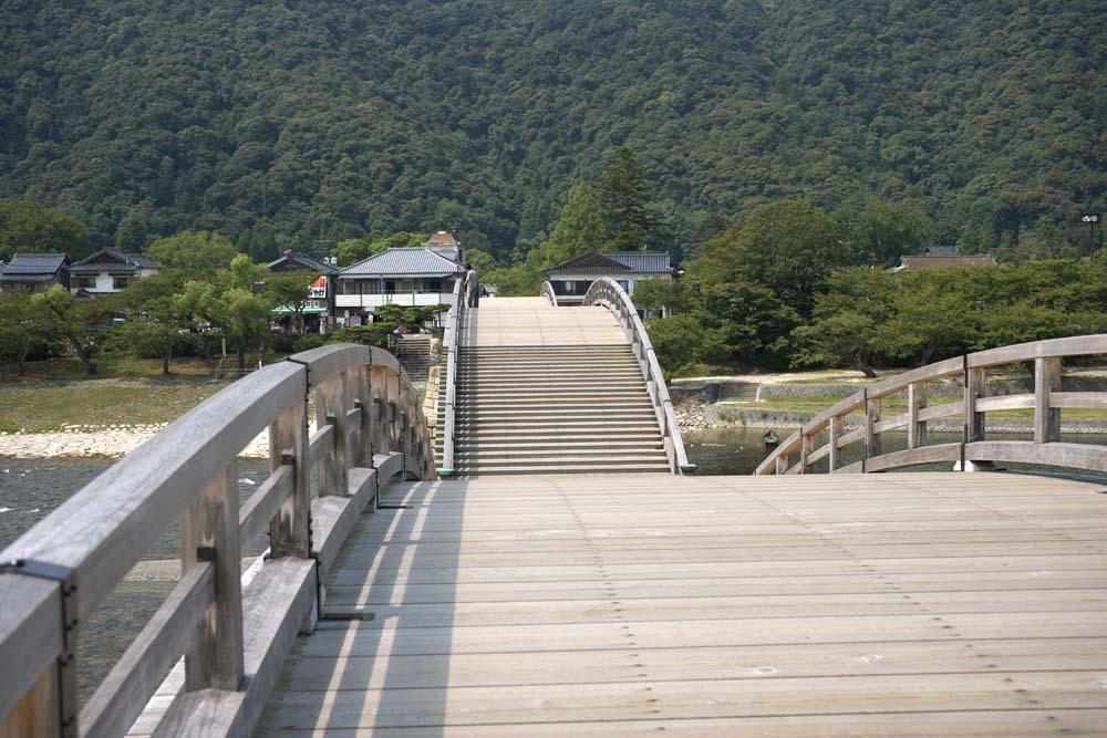 fotografia, materiale, libero il panorama, dipinga, fotografia di scorta,Kintai-kyo fa un ponte su, Kintai-kyo fa un ponte su, luogo notato, facendo il turista macchia, ponte