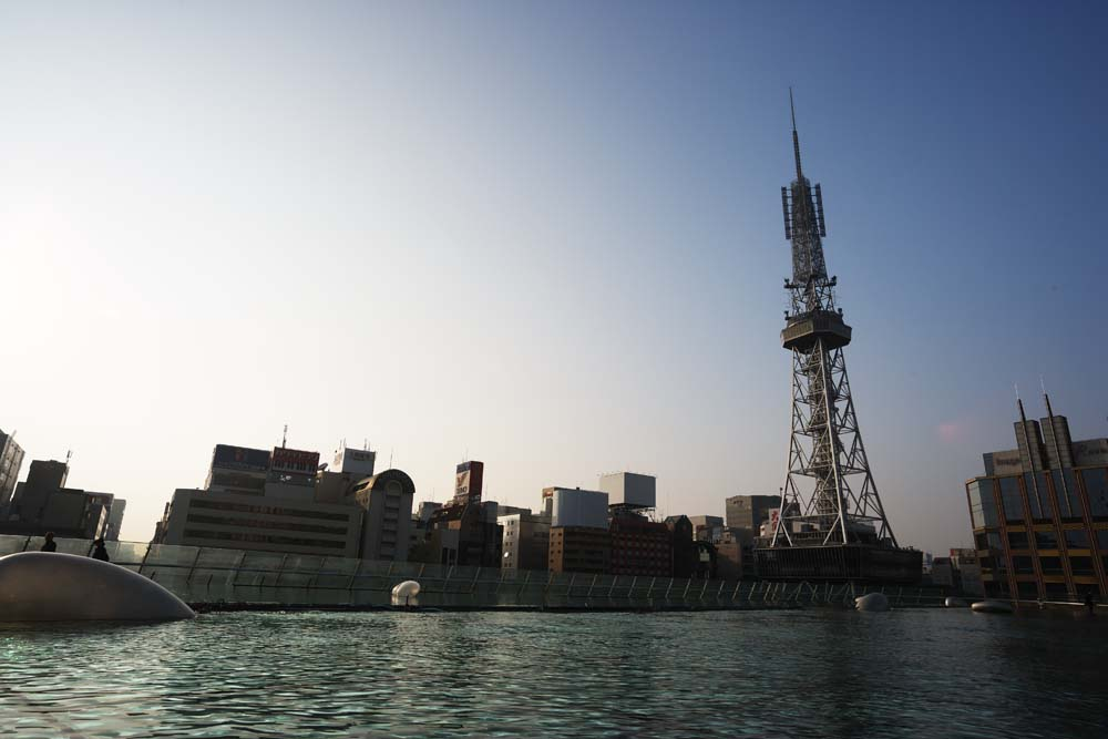 photo,material,free,landscape,picture,stock photo,Creative Commons,Nagoya Television Tower, television tower, An electric wave, TV, Television