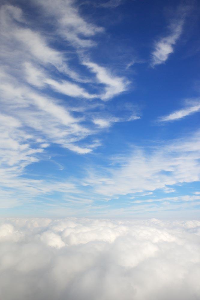 写真,素材,無料,フリー,フォト,クリエイティブ・コモンズ,風景,壁紙,雲海に空, 雲海, 気象, 成層圏, 青空