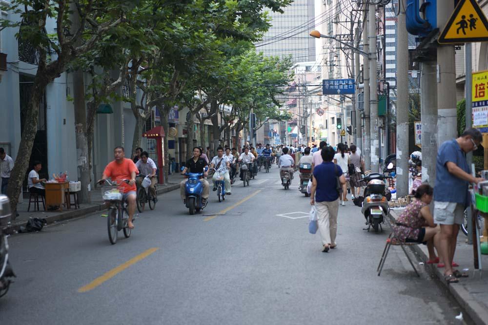 foto,tela,gratis,paisaje,fotograf�a,idea,De acuerdo con Shangai, Motocicleta, Bicicleta, Asfalto, Transe�nte
