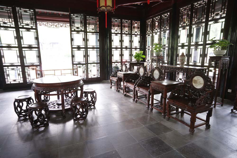 Foto, materiell, befreit, Landschaft, Bild, hat Foto auf Lager,Das Zimmer von Enkodo von Zhuozhengyuan, Stuhl, , Tisch, Garten