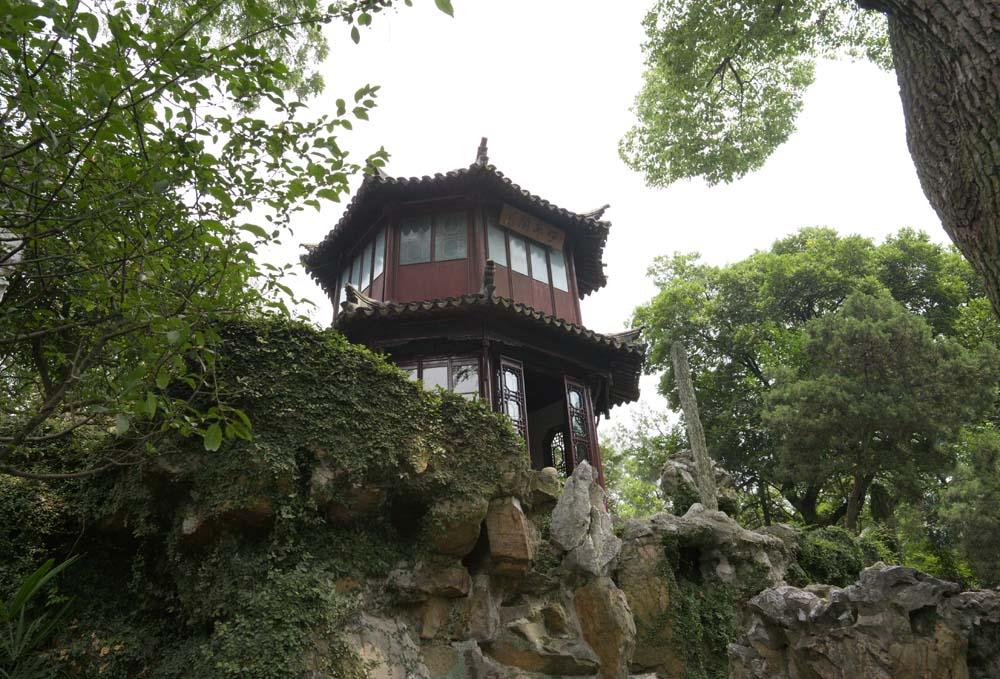 Foto, materiell, befreit, Landschaft, Bild, hat Foto auf Lager,Die Architektur von Zhuozhengyuan, Architektur, Ein Oktagon, vorläufiger Berg, Garten
