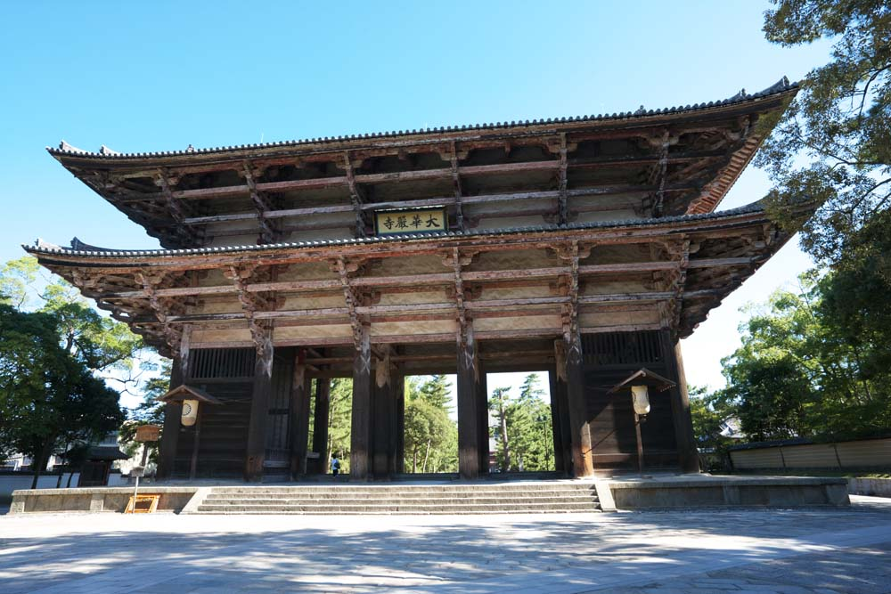 photo, la matière, libre, aménage, décrivez, photo de la réserve,Nandaimon Higashiooji, La porte, bâtiment en bois, Bouddhisme, temple