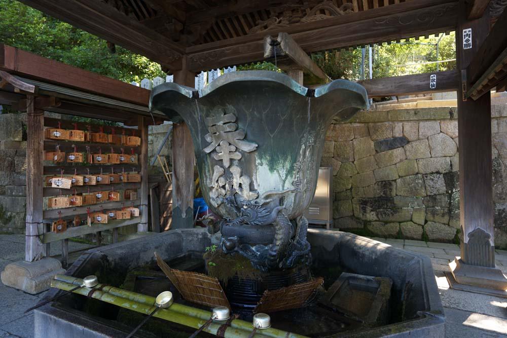 photo, la matière, libre, aménage, décrivez, photo de la réserve,Le dragon de Nigatsu-faites la Salle, Main-laver, louche, Je l'assainis, statue de bronze bleue