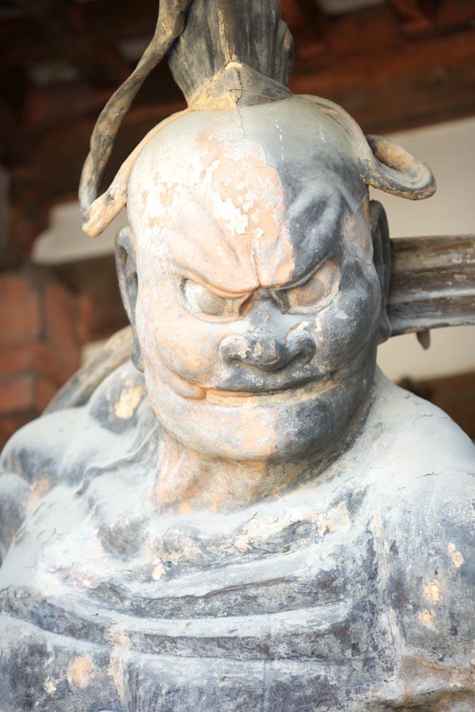 Foto, materiell, befreit, Landschaft, Bild, hat Foto auf Lager,Horyu-ji Temple-Tor baute zwischen dem Haupttor und dem Haupthaus der Palast-entworfenen Architektur im Fujiwara Periode Deva King (Ungyo))), Buddhismus, Nio Hüter Gottheitsbild, Hütergottheit, Muskulösität