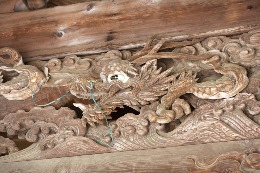 fotografia, materiale, libero il panorama, dipinga, fotografia di scorta,Kompira-san scultura di Sacrario, Sacrario scintoista tempio buddista, dragone, dragone, Scintoismo