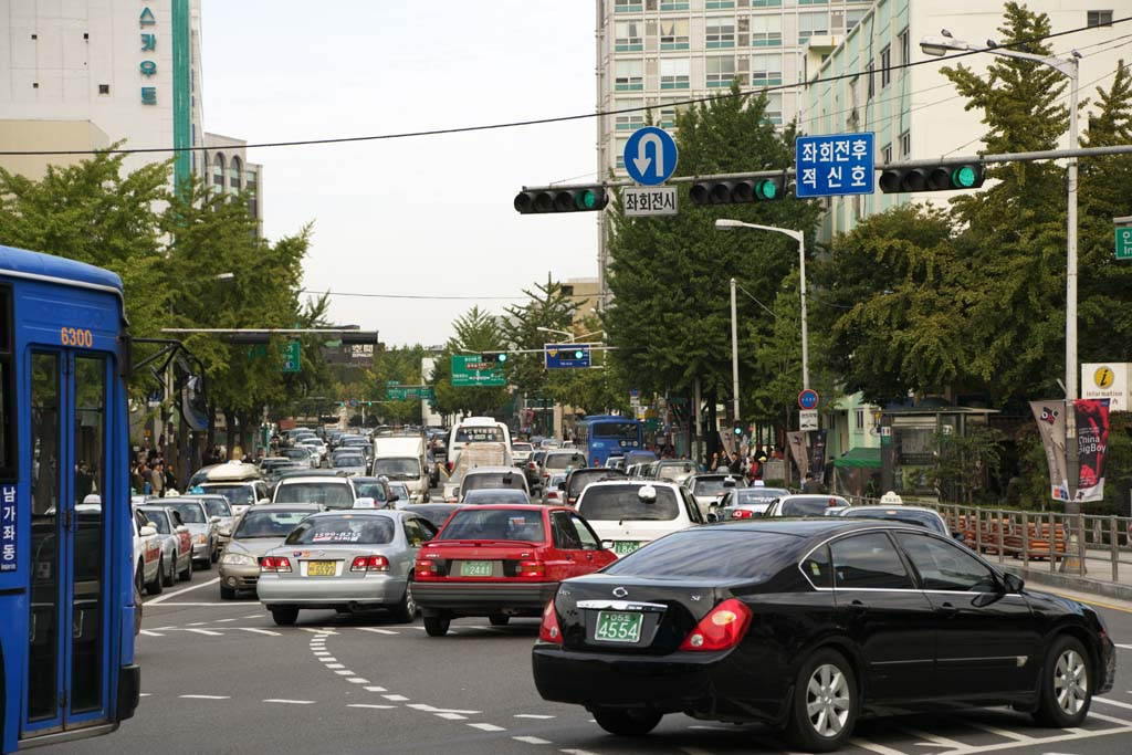 photo,material,free,landscape,picture,stock photo,Creative Commons,A traffic jam, car, signal, crossing, Asphalt