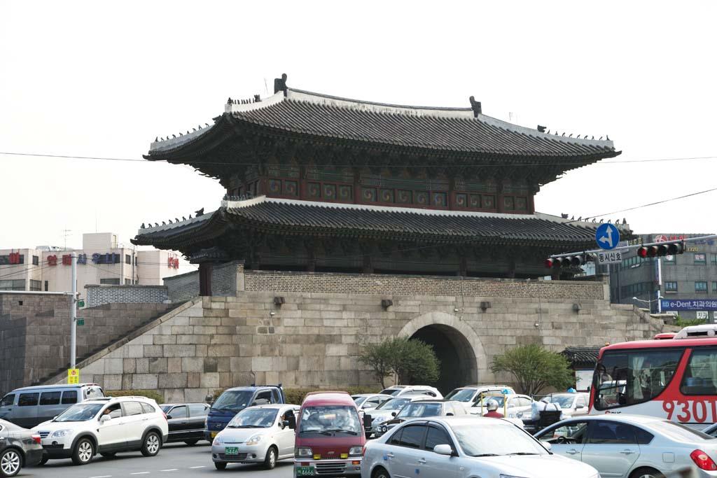 photo,material,free,landscape,picture,stock photo,Creative Commons,Dongdaemun, Jongno area, Heunginjimun, Tokyo University gate market, Dongdaemun-sijang