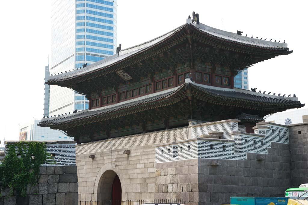 foto,tela,gratis,paisaje,fotografía,idea,Dongdaemun, Jongnoarea, Heunginjimun, Mercado de recaudación de Tokyo University, Dongdaemun - sijang