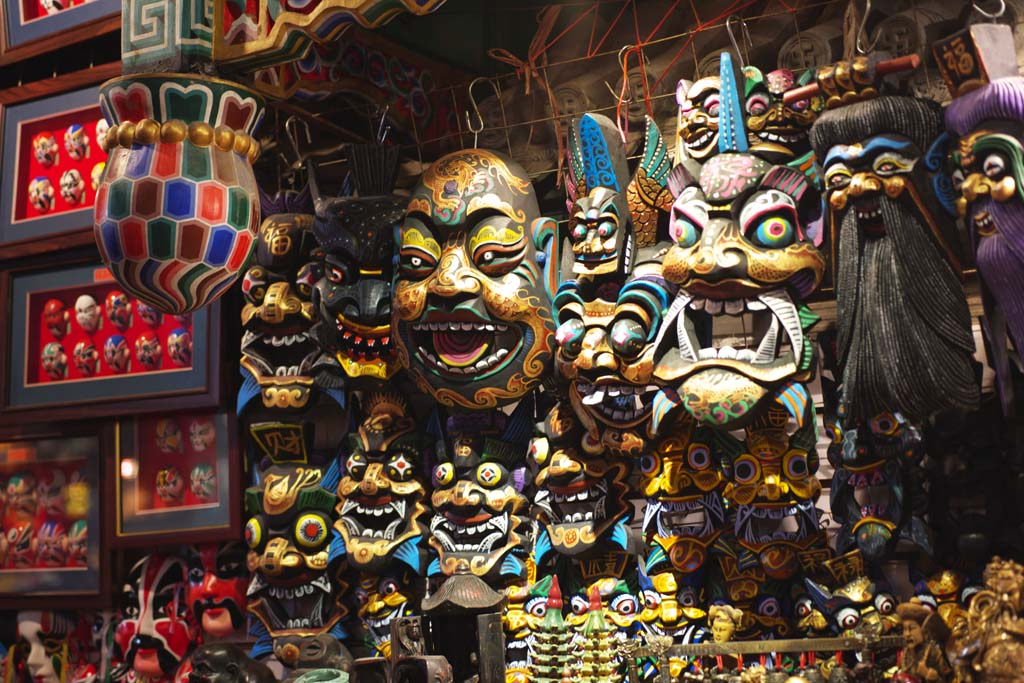 Foto, materieel, vrij, landschap, schilderstuk, bevoorraden foto,Wangfujing Street snacks, Met bovenaards, Gemaskerd, Etnisch, Handwerken: