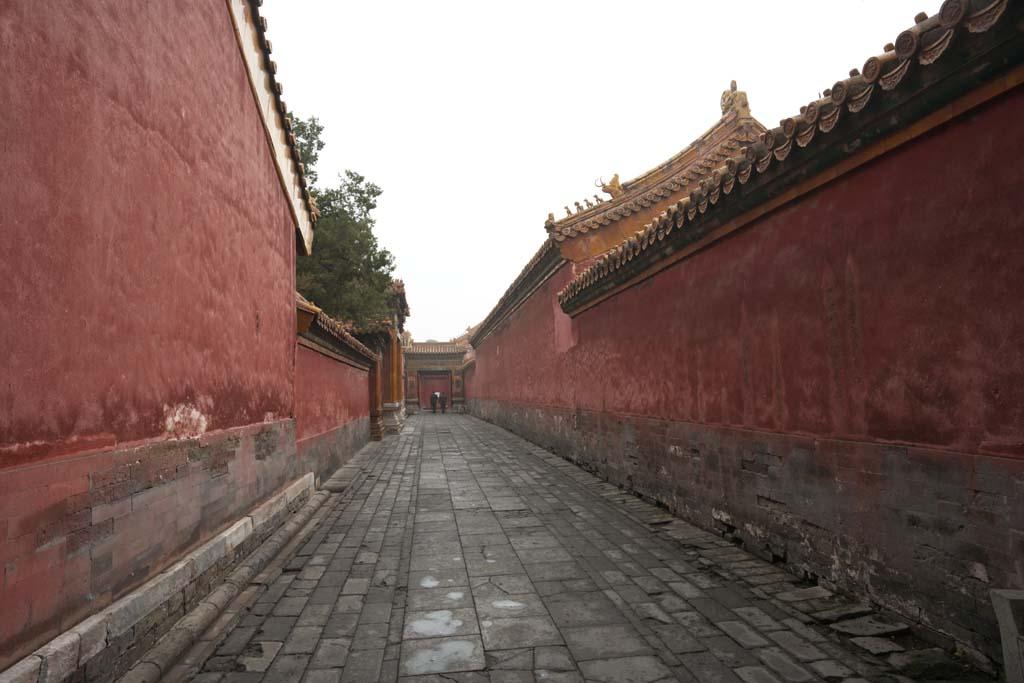 foto,tela,gratis,paisaje,fotograf�a,idea,Ciudad Prohibida paso, Capa de Zhu, Pared, Adoquinado, Herencia de mundo