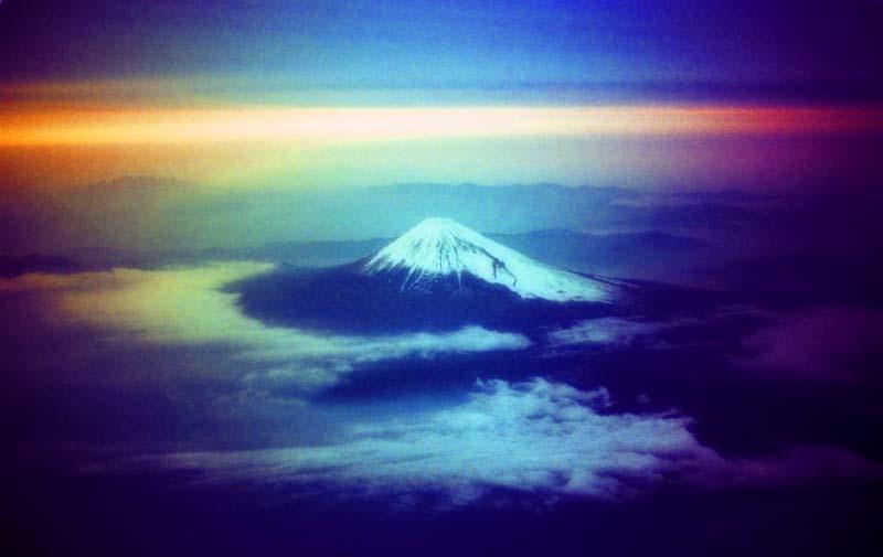 Foto, materiell, befreit, Landschaft, Bild, hat Foto auf Lager,Fantastische Sicht von Fuji, Berg, das Setzen von Sonne, ,